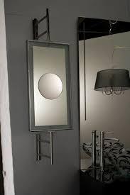 wall mounted bathroom mirror magnifying contemporary rectangular 01