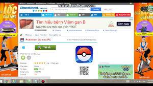 Game pokemon go tren may tinh