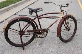Schwinn Bike Computer Tire Size Chart Details About 1930s Elgin Prewar Balloon Tire Bicycle