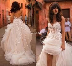 Discount Liz Martinez Beach Wedding Dresses 2017 With 3d Floral V