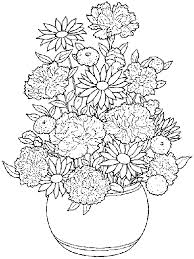Small Picture Coloring Pages Of Flower Pots Flower Coloring pages of