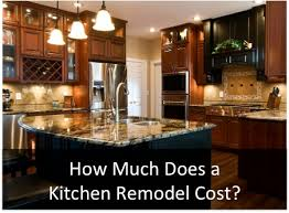 Renovating A Kitchen Cost How Much Does It Cost To Remodel A Kitchen With Regard For Cabinets