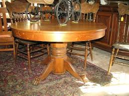 antique oak claw foot pedestal table dining ideas antique claw foot table value round oak circa