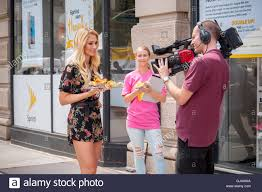 alyssa smith an on air personality of cheddar the streaming alyssa smith an on air personality of cheddar the streaming video service that provides business oriented news does a segment at a promotional event in