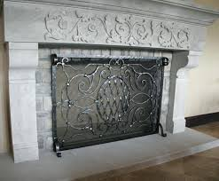hand forged fireplace screens smartness inspiration custom wrought iron fireplace screens 6 custom screens accessories hand