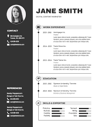 Modern Black And White Resume Template Venngage