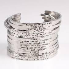 Inspirational Quotes Bracelets Stunning Mantra Bracelets Inspirational Quotes SILVER Assorted Designs