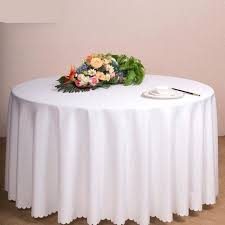 table cloths big size polyester white round table cloth wedding tablecloth party table cover dining table