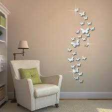 12pcs 3d mirror erfly wall stickers