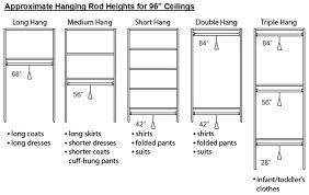 Standard Closet Rod Height Enchanting Standard Closet Rod Height Photo 32 Of 32 Standard Closet Rod Height