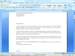 Cover Letter Emailed Cover Letter Format Format For Emailed Cover