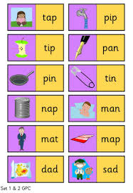 These free worksheets help your kids learn to define sounds from letters to make words. Phase 2 3 Picture Word Dominoes Phonics Cvc Words English Phonics Jolly Phonics Activities