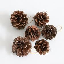 pine cone pendant tree ornament natural pine cone decoration