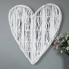 heart wall hanging large white wicker wall hanging heart decoration wooden heart shaped wall hanging best