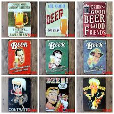 home decor plate x: lkb x  new  vintage metal tin signs quot drink good beer here