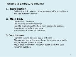 Lit Review Outline Under Fontanacountryinn Com