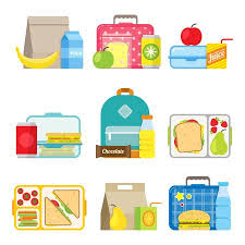 lunch tray clipart. Delighful Tray School Lunch Boxes Set Childrens Bags And Trays With Hamburgers  Soda Frits On Lunch Tray Clipart P