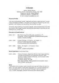Sample Profile Summary For Resume Waiter Resume Examples For