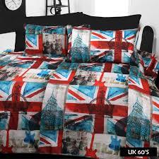 uk 60 s big ben british flag union jack london quilt cover set sb ds qs