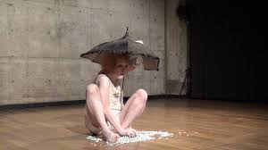 Nude stage performance butoh solo