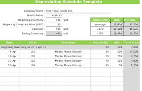 Depreciation Schedule Template Excel Free Printable