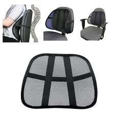 vent cushion mesh back lumbar support car seat office chair truck seat lumbar protector black color use for all seasons