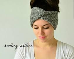 Knitted Headband Pattern Unique Knitting Pattern DoubleKnit Twisted Turban Headband Etsy