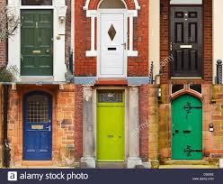 residential front doors. a selection of residential front doors good for estate agents and symbolising opening new