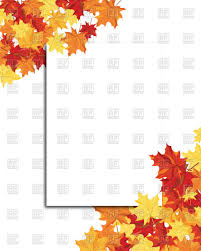 autumn frame with blank sheet of paper vector image vector ilration of borders and frames to zoom