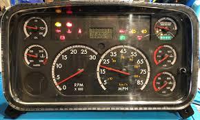 Freightliner Warning Lights 2010 Freightliner M2 Used Dashboard Instrument Cluster For Sale Mph
