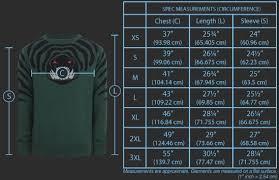 We Love Fine Size Chart Valve Store Tidehunter Sweater