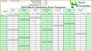 Scheduling Template Excel Scheduling Excel Free Excel Work Schedules