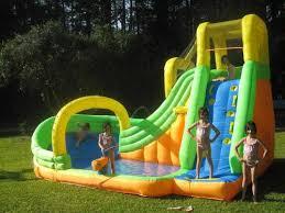 Banzai Slide U0027N Soak Splash Park Inflatable Water Slide Lagoon Water Slides Backyard