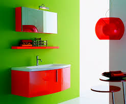 captivating green bathroom. Captivating Green Bathroom Paint Ideas Matched With Orange Furnitures Of Wall Vanity Sink Completed