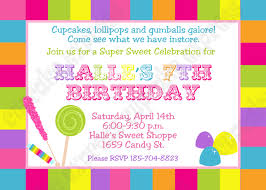 diy candy shoppe birthday party printable invitation 5x7 4x6 birthday party printable invitation 5x7 4x6 pink green yellow blue lollipops gumdroops 🔎zoom