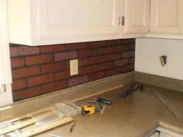 Brick Backsplash Kitchen Painting Faux Brick Backsplash In Kitchen