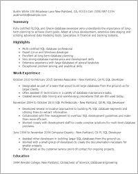Sample Resume For Oracle Pl Sql Developer Best of Pl Sql Sample Resumes Benialgebraincco