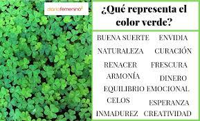 significados del color verde según la