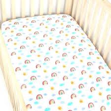 rainbow fish crib sheet muslin baby cot city textile co ltd sheets koi bedding set pastel