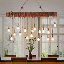 Vintage Pendant Lighting Vintage Metal Wooden Industrial Hanging Ceiling Lamp Chandelier Pendant Lights