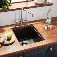 15 Atlas Stainless Steel Undermount Prep Sink Gunmetal Black