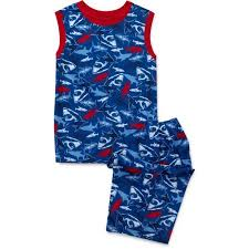 faded glory boys piece shark pajamas com faded glory boys 2 piece shark pajamas