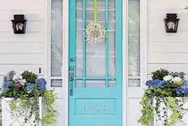 Turquoise front door Brick House Fabulous Colors For Front Doors For Stand Out Entry Exterior Styles Home Decor Turquoise Front Doorjpg Reallifewithceliacdisease