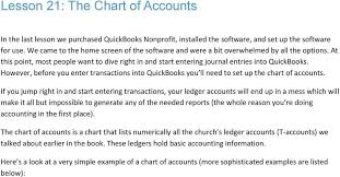 Quickbooks For Churches Chart Of Accounts Course 2 Start To Finish Guide For Using Quickbooks For