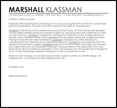 Unemployment Overpayment Appeal Letter Example Letter