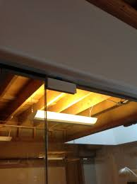 glass conference room with ada hardware ot
