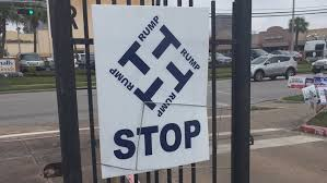 Image result for anti trump swastika