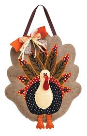 Decorative Door Hangers Thanksgiving Turkey Decorative Burlap Door Hanger Iamericas Flags