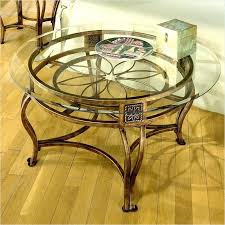 wrought iron and glass coffee table wrought iron and glass table round glass top e tables
