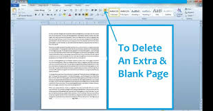 How To Delete An Extra Blank Page In Microsoft Word 2010